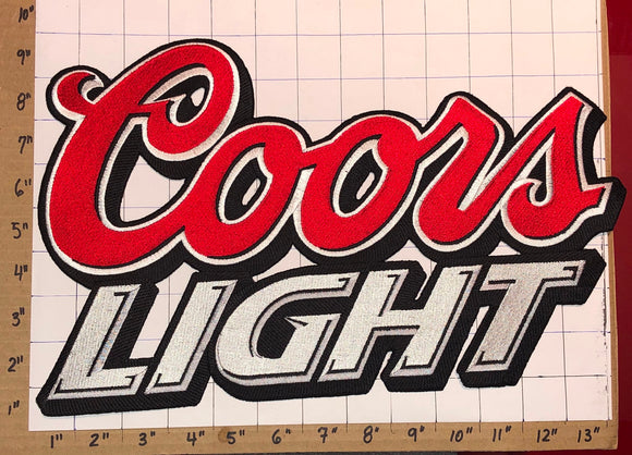 1 HUGE MOLSON COORS LIGHT BEER BREWERY CREST EMBLEM PATCH