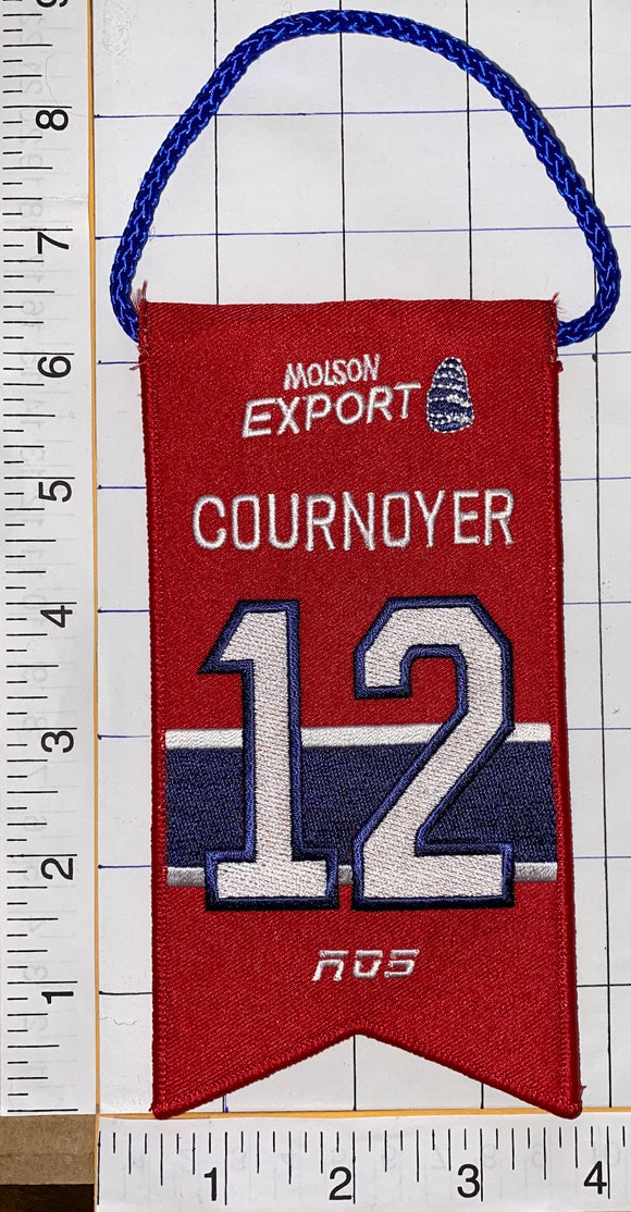 YVAN COURNOYER MONTREAL CANADIENS #12 RETIREMENT BANNER NHL HOCKEY RDS MOLSON