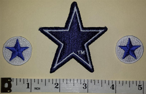 3 DALLAS COWBOYS NFL FOOTBALL  PATCH LOT
