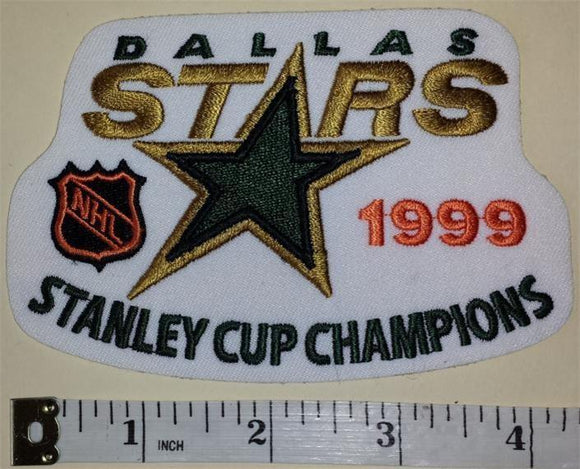 1 DALLAS STARS 1999 STANLEY CUP CHAMPIONS NHL HOCKEY EMBLEM CREST PATCH
