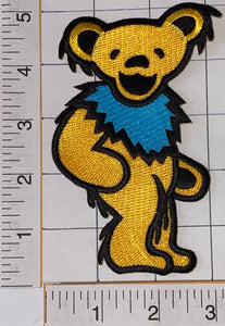 "GRATEFUL DEAD YELLOW 5"" BEAR JERRY GARCIA ROCK FOLK MUSIC PATCH"