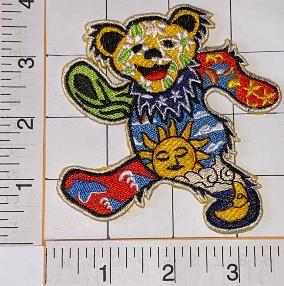 GRATEFUL DEAD SUN MOON BEAR JERRY GARCIA ROCK FOLK MUSIC PATCH