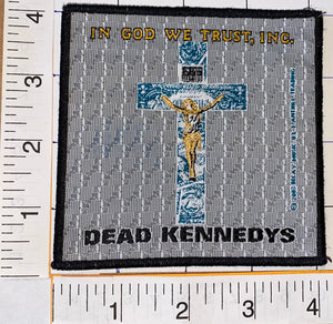 1 DEAD KENNEDYS AMERICAN PUNK ROCK BAND MUSIC IN GOD WE TRUST MUSIC PATCH
