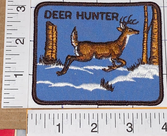 1 VINTAGE DEER HUNTER HUNTING WILD LIFE FOREST CREST EMBLEM PATCH