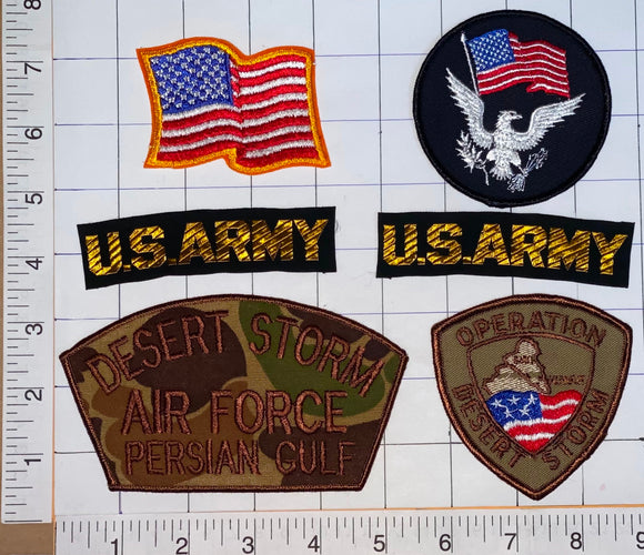 6 DESERT STORM US AIR FORCE ARMY PERSIAN GULF THE GULF WAR CREST PATCH LOT