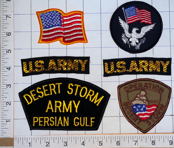 6 US DESERT STORM US ARMY PERSIAN GULF THE GULF WAR CREST PATCH LOT