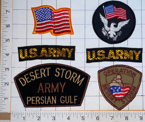 6 DESERT STORM US ARMY PERSIAN GULF THE GULF WAR CREST PATCH LOT