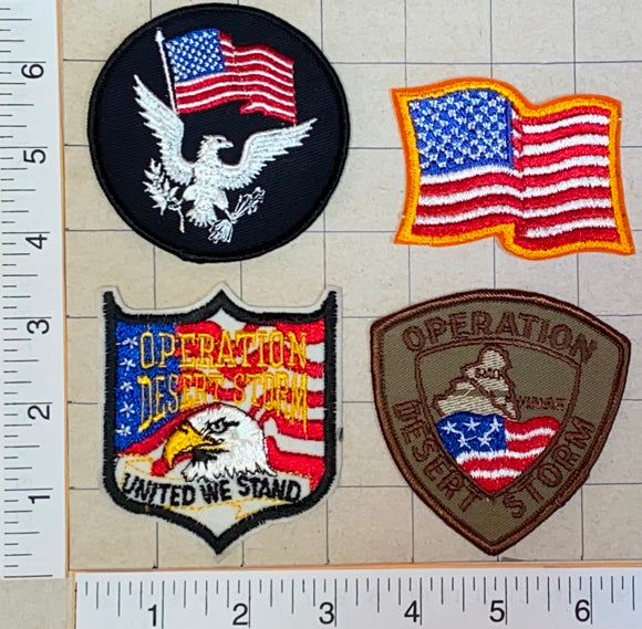 4 UNITED DESERT STORM US AIR FORCE ARMY NAVY PERSIAN GULF THE GULF WAR PATCH LOT