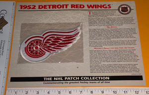 1 OFFICIAL 1952 DETROIT RED WINGS NHL HOCKEY WILLABEE & WARD PATCH MIP