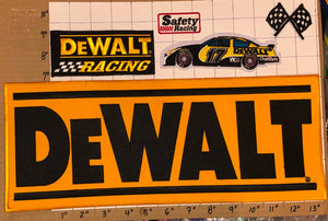 5 DEWALT POWER TOOLS SAFETY RACING MATT KENSETH NASCAR STOCK CAR BADGE PATCH LOT