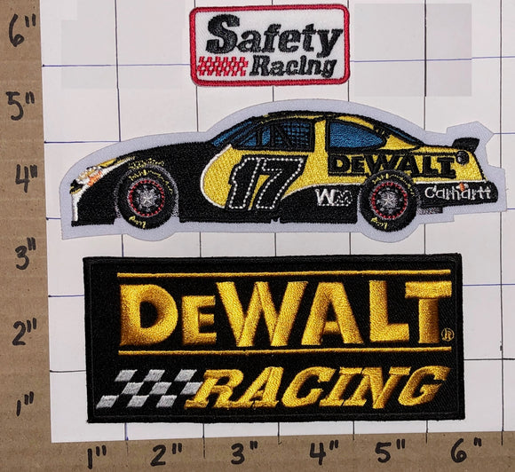 3 DEWALT POWER TOOLS SAFETY RACING MATT KENSETH NASCAR STOCK CAR BADGE PATCH LOT