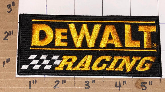 1 DEWALT RACING POWER TOOLS NASCAR SPONSOR CREST EMBLEM PATCH