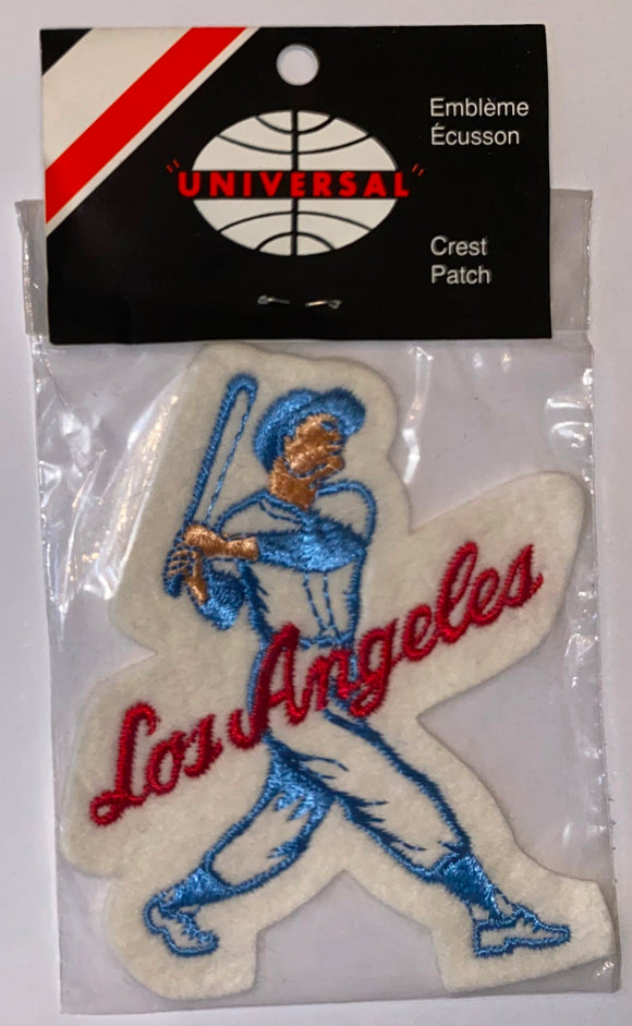 1 VINTAGE LOS ANGELES DODGERS MLB BASEBALL PLAYER CREST PATCH MINT IN PACKAGE