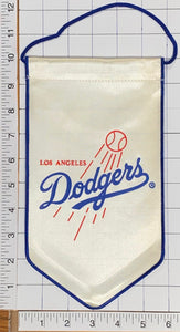 "LOS ANGELES DODGERS MLB BASEBALL OFFICIALLY LICENSED 10"" PENNANT RAYON BANNER"