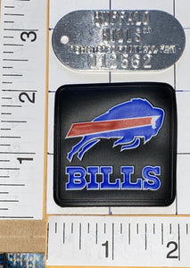 BUFFALO BILLS NFL FOOTBALL METAL TIN DOG ARMY TAGS TAG KEYCHAIN FOOTBALL FAN LOT