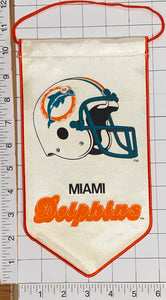 "MIAMI DOLPHINS OFFICIALLY LICENSED NFL FOOTBALL 10"" PENNANT RAYON BANNER"