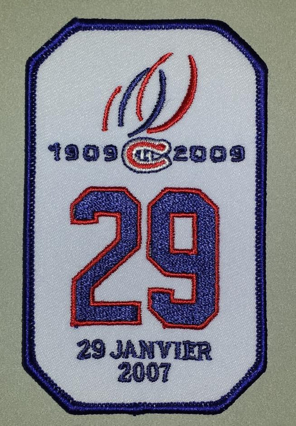 2007 KEN DRYDEN #29 RETIREMENT NIGHT MONTREAL CANADIENS NHL HOCKEY PATCH