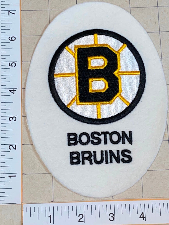 1 VINTAGE BOSTON BRUINS EGG SHAPED NHL HOCKEY EMBLEM CREST PATCH