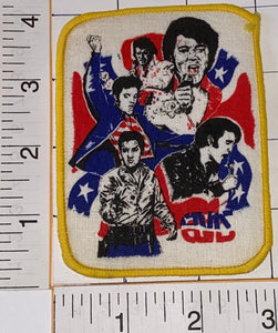 1 RARE ELVIS PRESLEY PICTURE ELVISLY YOURS ROCK & ROLL MUSIC SINGER EMBLEM PATCH