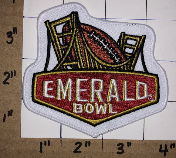 1 EMERALD BOWL AT&T NCAA COLLEGE FOOTBALL CALIFORNIA CREST EMBLEM PATCH