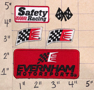 5 RAY EVERNHAM MOTORSPORTS HENDRICK GILLETT PETTY CREST EMBLEM PATCH LOT