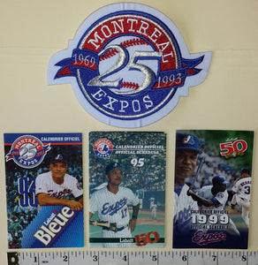 1993 MONTREAL EXPOS FELIPE ALOU MANAGER SCHEDULE PATCH CREST MLB BASEBALL LOT
