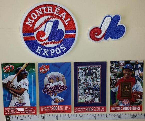 MONTREAL EXPOS GARY CARTER SCHEDULE PATCH CREST MLB BASEBALL LOT