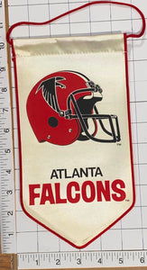 "ATLANTA FALCONS OFFICIALLY LICENSED NFL FOOTBALL 10"" PENNANT RAYON BANNER"