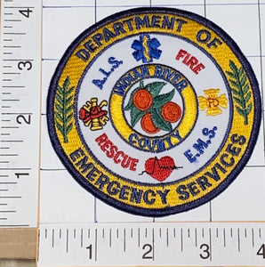 INDIAN RIVER COUNTY DEPARTMENT OF EMERGENCY SERVICES FIRE RESCUE CREST PATCH