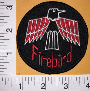 "FIREBIRD PONTIAC MUSCLE CAR 3"" EMBROIDERED PATCH"