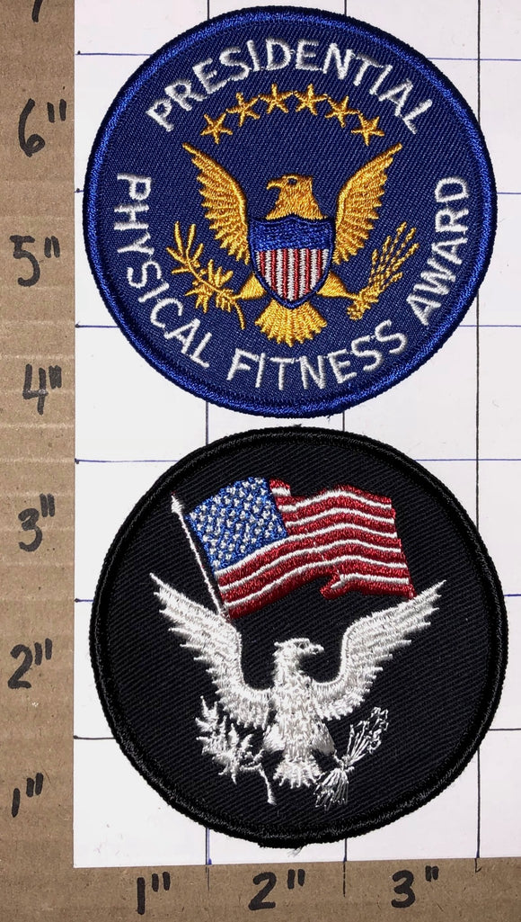 2 PRESIDENTIAL PHYSICAL NATIONAL FITNESS AWARD EAGLE USA BLUE PATCH LOT