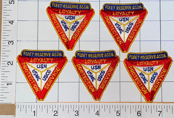 5 FLEET RESERVE ASSOCIATION US NAVY MARINE COAST GUARD CREST PATCH LOT