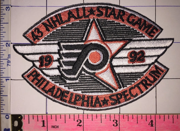1992 PHILADELPHIA FLYERS 43RD NHL HOCKEY ALL STAR GAME SPECTRUM EMBLEM PATCH