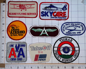 8 PIPER AA AMERICAN AIRLINES TIGHAR KEYAHEY FLYING A SERVICE AIRCRAFT PATCH LOT