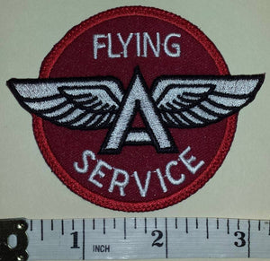 FLYING A SERVICE TIDEWATER PETROLEUM OIL GAS CREST EMBLEM PATCH