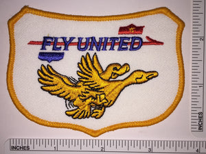 FLY UNITED AIRLINES FUNNY COMICAL CREST EMBLEM PATCH