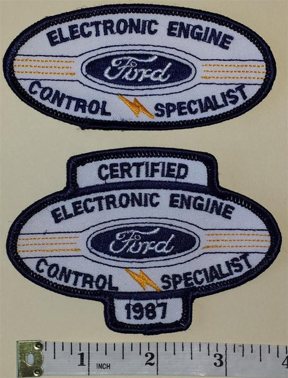 2 FORD CERTIFIED ELECTRONIC ENGINE SPECIALIST CAR AUTOMOBILE EMBLEM PATCH LOT