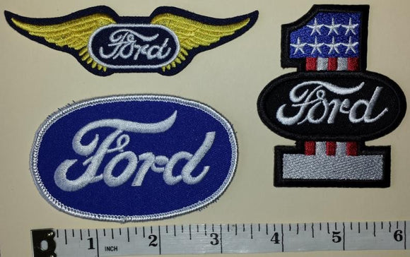 3 FORD TRUCKS F150 #1 HEAVY DUTY BUILT TOUGH WING EMBLEM PATCH LOT