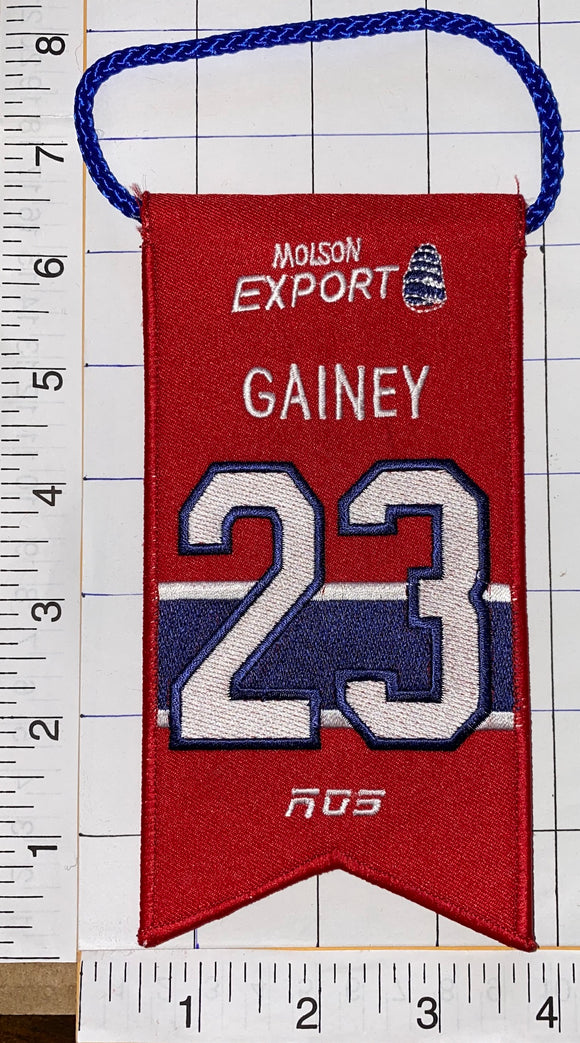 BOB GAINEY MONTREAL CANADIENS #23 RETIREMENT BANNER NHL HOCKEY RDS MOLSON