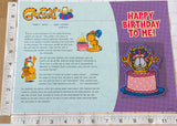 GARFIELD HAPPY BIRTHDAY TO ME WILLABEE & WARD EMBLEM PATCH