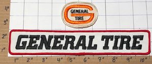 2 RARE VINTAGE GENERAL TIRE RALLYE RUBBER CREST EMBLEM PATCH LOT