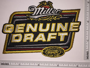 "1 MILLER GENUINE DRAFT 4"" BEER BREWERY MILWAUKEE CREST PATCH"