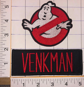 2 GHOSTBUSTERS AMERICAN SUPERNATURAL MOVIE COMEDY PETER VENKMAN CREST PATCH LOT