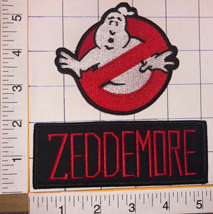 2 GHOSTBUSTERS AMERICAN SUPERNATURAL MOVIE COMEDY WINSTON ZEDDEMORE CREST PATCH LOT