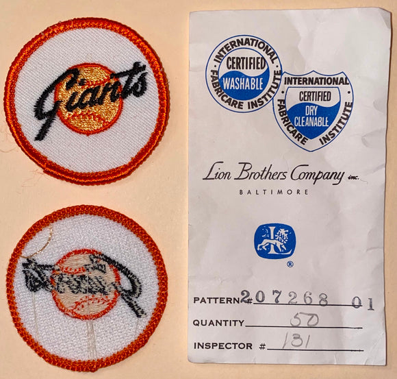 1 VINTAGE SAN FRANCISCO GIANTS MLB BASEBALL 2