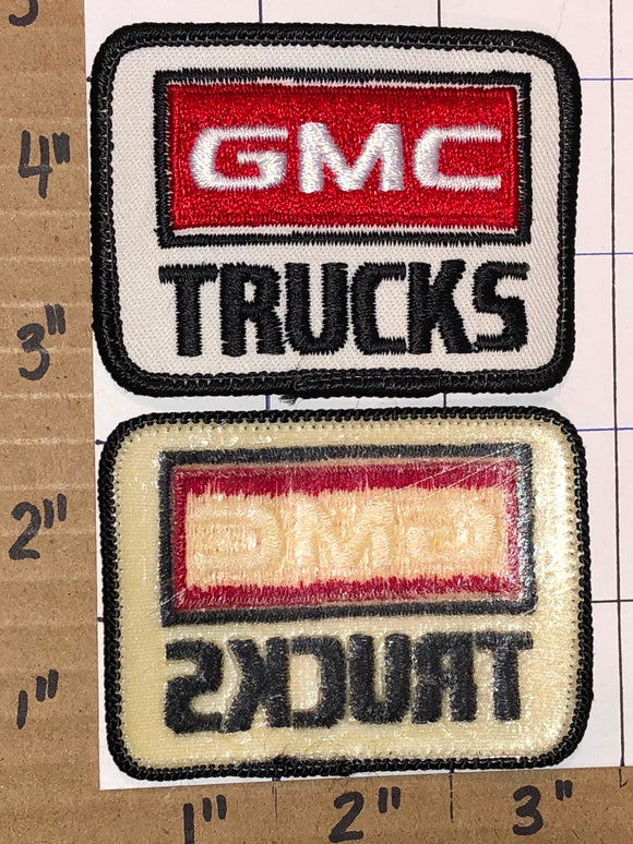 1 VINTAGE GMC TRUCKS HEAVY DUTY BULIT TOUGH BLACK CREST EMBLEM PATCH