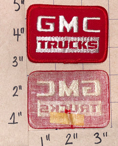 1 GMC TRUCKS HEAVY DUTY BULIT TOUGH RED CREST EMBLEM PATCH