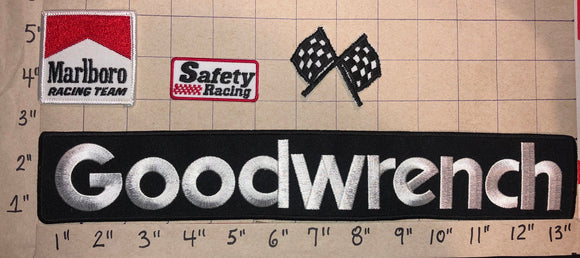 4 RARE VINTAGE GOODWRENCH NASCAR RACING NHRA CREST EMBLEM PATCH LOT