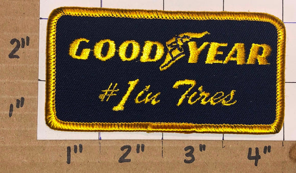 1 GOODYEAR TIRE RUBBER COMPANY #1 IN TIRES CREST EMBLEM PATCH LOT
