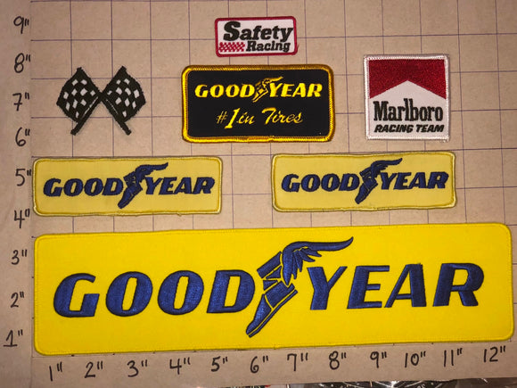 7 GOODYEAR TIRE RUBBER COMPANY #1 IN TIRES NASCAR SPONSOR CREST PATCH LOT